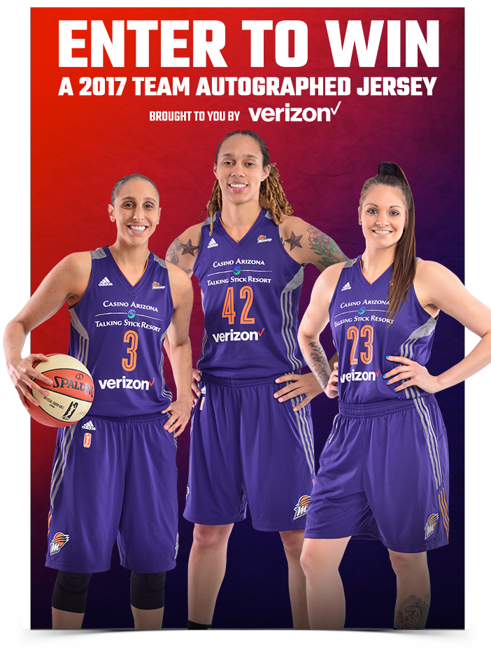 Enter to Win a 2017 Team Autograhped Jersey brought to you by Verizon