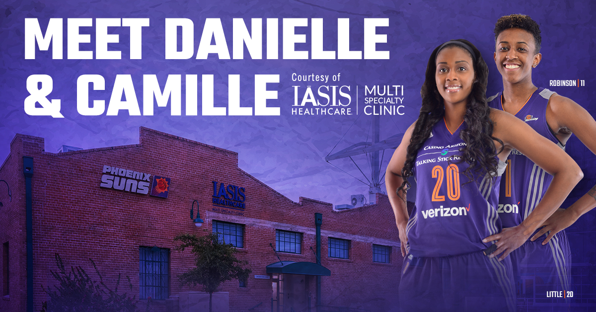 Meet Mercury stars Camille Little and Danielle Robinson at the IASIS Healthcare Multi Specialty Clinic